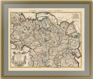 Карта Великой Тартарии. 1733г. Делиль, Ковенс и Мортье. Роскошный VIP подарок