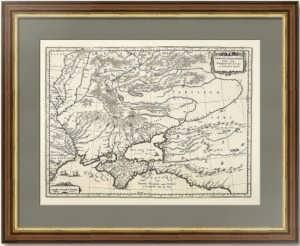 Карта Таврии или Крыма и владений крымского ханства. 1638г. Меркатор/Блау.