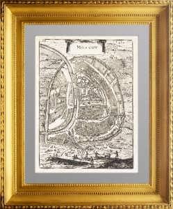 Москва. 1683г. Старинный план. Маллет. Антикварная гравюра - ВИП подарок