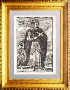 Алексей Михайлович. Великий князь Московии. 1683г.  Антикварная гравюра