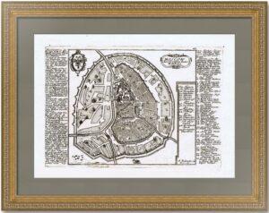 Антикварный план Москвы. 1720г. Боденер по Олеариусу. ВИП подарок руководителю