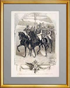 Николай I  и великий князь Александр. 1854г. Пиратский. Старинная гравюра