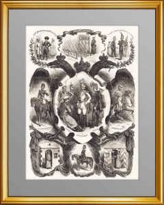 Силовые структуры России. 1863г. Старинная гравюра -  подарок полицейскому, сотруднику МЧС, пожарному