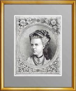 Мария Александровна Романова. Великая княжна. 1873г. 40x29. Гравированный портрет