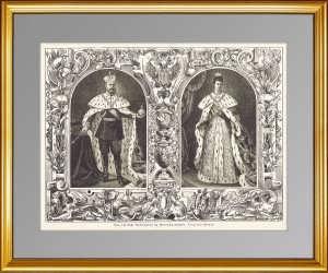 Александр III и Мария Фёдоровна. Коронация. 1882г. Антикварный подарок
