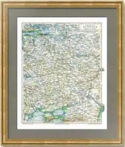 Европейская Россия. От Петербурга до Крыма. 1896г. Старинная карта