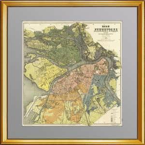 План Ленинграда. 1929г. Большой кабинетный формат