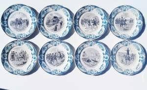 Русско-японская война. 1905г. Набор антикварных декоративных тарелок