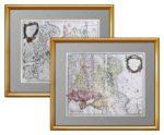 1757г. Северная и южная часть европейской России. Музейный антикварный подарок