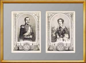 Александр II и императрица Мария Александровна. 1856г. Гравюры