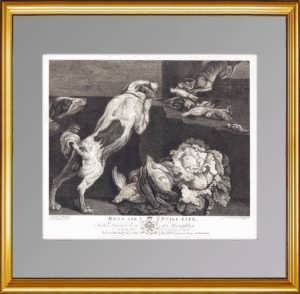 Эрмитажная коллекция. Собаки и натюрморт. 1778г. Музейный экземпляр. VIP подарок