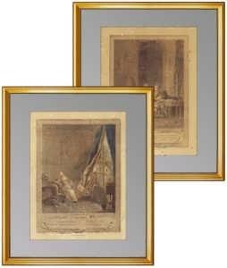 Старинные жанровые гравюры. 1774г. Музейные экземпляры / Эрмитаж. ВИП подарок