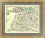 Прибалтика, Финляндия,  Ленинградская область на  антикварной карте 19 века
