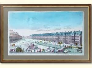 """Старинная гравюра """"12 коллегий"""" с рис. Махаева. 1770г. Петербург.N1.  ВИП подарок"""