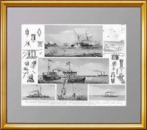 История флота. 1870г. Торпеды и торпедоносцы, водолазы подводные работы.