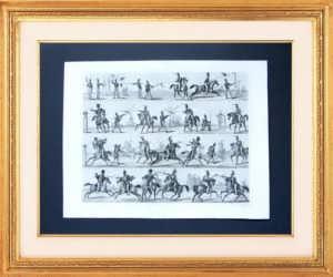 Обучение владению холодным оружием. 1851г.  Подарок в кабинет руководителю