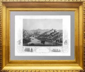Крым. Балаклава. 1855г. Гравюра. Антикварный подарок в кабинет патриоту, чиновнику