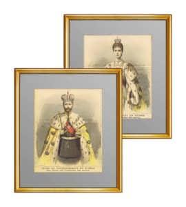 Николай II и императрица. 1896г. Коронационные портреты. Галкин. Антикварный VIP подарок