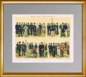 1897г. Флот и колониальные войска. Униформа. ВИП подарок моряку в кабинет