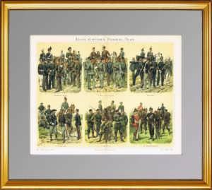 1897г. Егерея, стрелки, разведчики и железнодорожные войска. ВИП подарок в кабинет