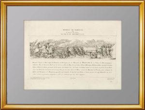 Битва при Мариньяно в 1515г. Старинная гравюра. 1780г. Музейный экземпляр