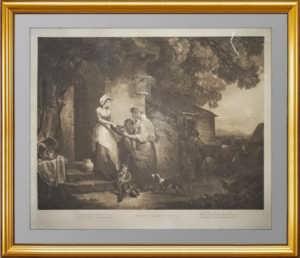 Деревенская доброжелательность. Китинг по Уитли. 1797г.  Меццо-тинто