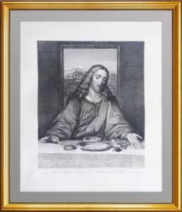 """Иисус - """"Тайная вечеря"""" да Винчи, Карделли. Петербург. Редкая антикварная гравюра"""