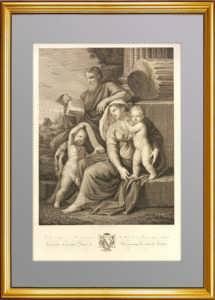 Святое семейство с юным Иоанном Крестителем. 1840г. Пуссен/Андерлони