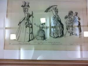 Наряды парижских дам XVIII века. Жакмин. 1869г. Антикварная гравюра