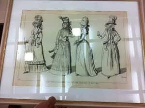Парижская мода в 1789 и 1790 гг. Жакмин. 1869г. Антикварная гравюра