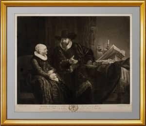 Портрет Корнелиса Ансло и его жены. 1781г. Рембрандт/Бойделл