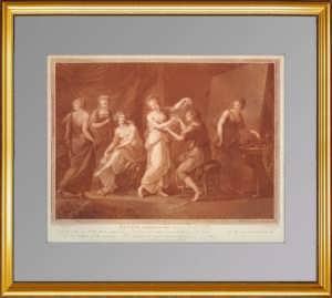 Зевксис выбирает модель для Елены Троянской. 1785г. Кауфман / Бартолоцци