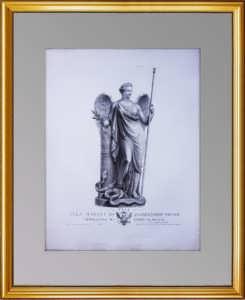 Аллегория Мира. 1810г. Гравюра со скульптуры Кановы по заказу графа Румянцева