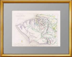 Севастополь. Старинный оригинальный план. 1855г. Антикварный ВИП подарок