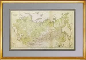 Антикварная карта Российской империи. 1907г. Ильин. Лист 35x53