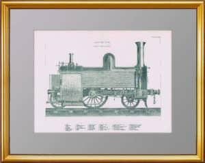 Британский пассажирский паровоз. 1907г. Старинная литография