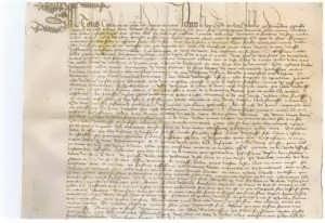 Договор купли-продажи. 1461г. Антикварный подарок нотариусу, юристу, адвокату