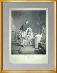 Утренний туалет (Le Neglige). 1741 г. Шарден / Ле Бас. Антикварный подарок