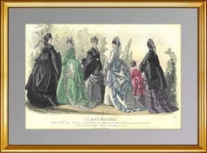 Парижская мода (N1534). 1870 г. Антикварная гравюра. ВИП подарок женщине