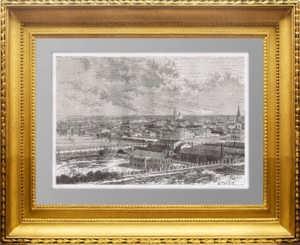 Екатеринбург. 1880г. Старинная гравюра - антикварный подарок