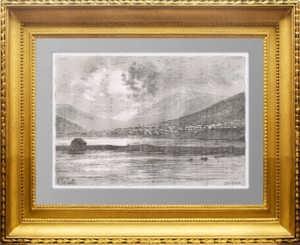 Петропавловск-Камчатский. 1880г. Старинная гравюра - антикварный подарок