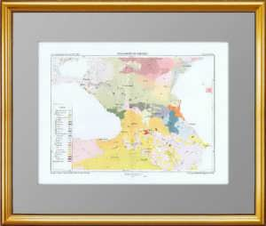 Этническая карта Российской империи (Кавказ). 1880г.