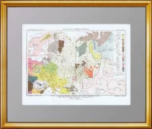 Этническая карта Российской империи (Европа). 1880г.
