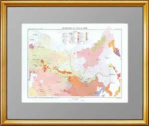 Этническая карта Российской империи (северная Азия). 1880г.