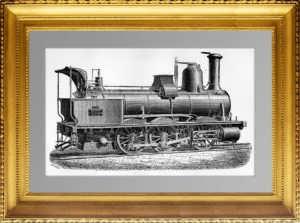 Локомотив Фив-Лилль (грузовой). 1883г. Антикварный подарок сотруднику РЖД