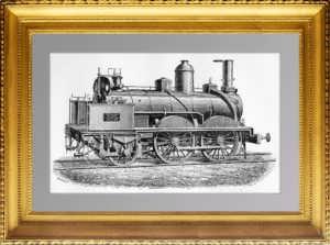 Локомотив Фив-Лилль пассажирский (VOYAGEURS). 1883г. Антикварный подарок
