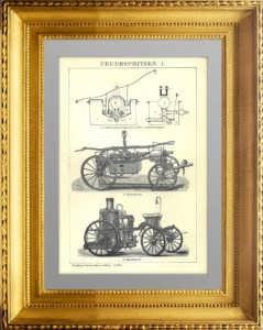 Пожарные насосы I. 1896г. Антикварный подарок сотруднику МЧС в кабинет