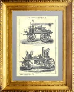 Пожарные насосы II. 1896г. Антикварный подарок сотруднику МЧС в кабинет