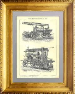 Пожарные насосы III. 1896г. Антикварный подарок пожарному в кабинет