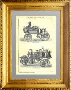 Пожарные насосы IV (самоходные). 1896г. Подарок пожарному в кабинет